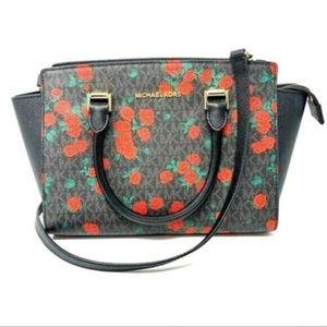 Michael Kors Rose Crossbody Satchel Bag